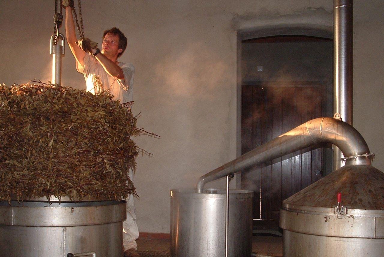 Destilación de jaras en Herdade de Vale Côvo (Mértola, Alentejo, Portugal).